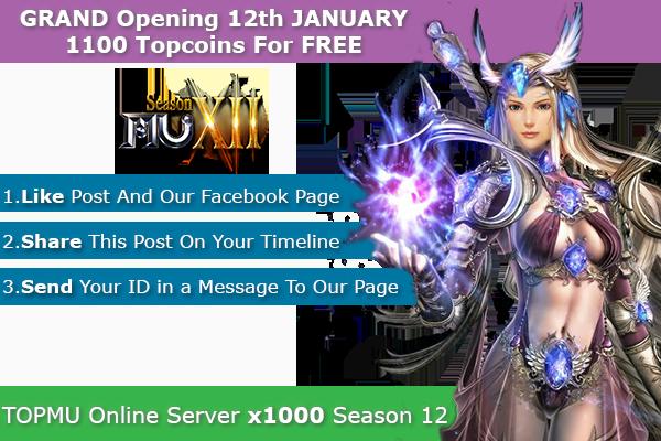 [AD] Top Mu Online | Season 12 | x1000 dynamic | Anti Hack | 3D Camera | 11 JANUARY 1100