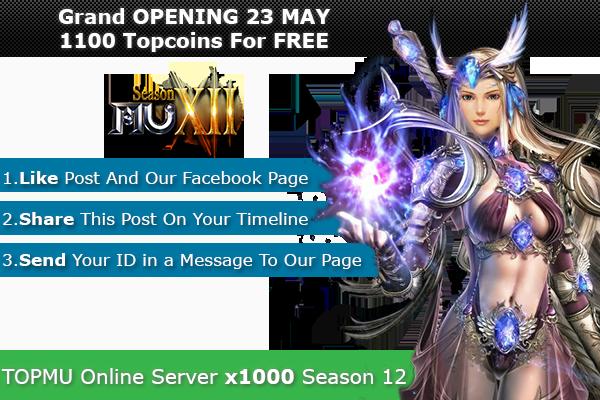 Top Mu Online | Season 12 full | Exp: x1000 dynamic 1100xxxxxxxxxx