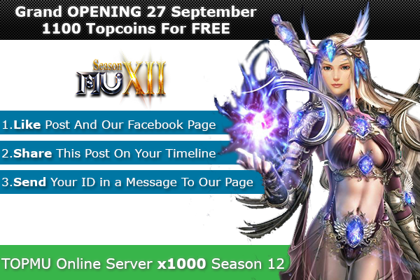 Top Mu Online | Season 12 full | Exp: x1000 dynamic 1100xy2