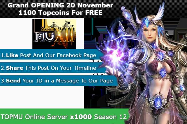 Top Mu Online | Season 12 full | Exp: x1000 dynamic 1100xy4