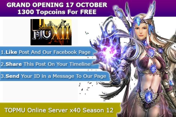 Top Mu Online | Season 12 full | Exp: x40 1300-13